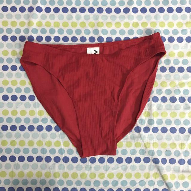 Red High Waist Bikini Bottom