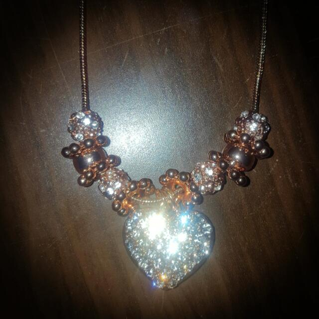 Rose Gold Lipsy London Necklace