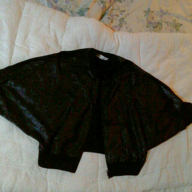 SCANLAN THEODORE Sparkly Bat Wing Cropped Jacket