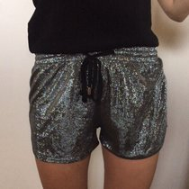 Shimmery silver shorts