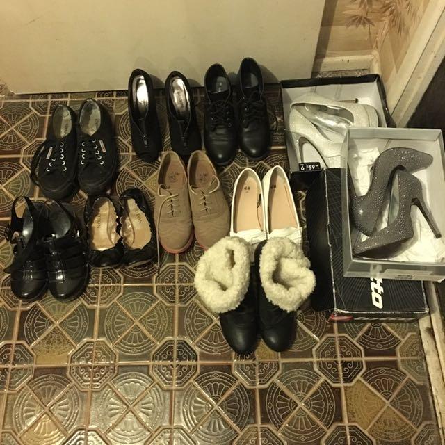 Sz 6-7 $5 Each. Heels Boots Flats