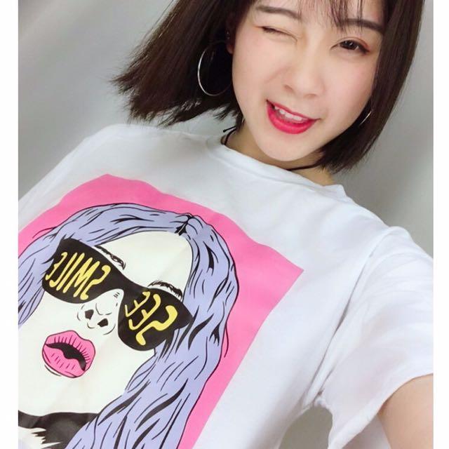 複古原宿百搭T恤(妞