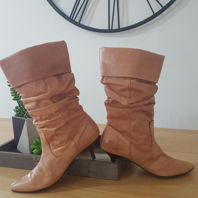 Tan Boots
