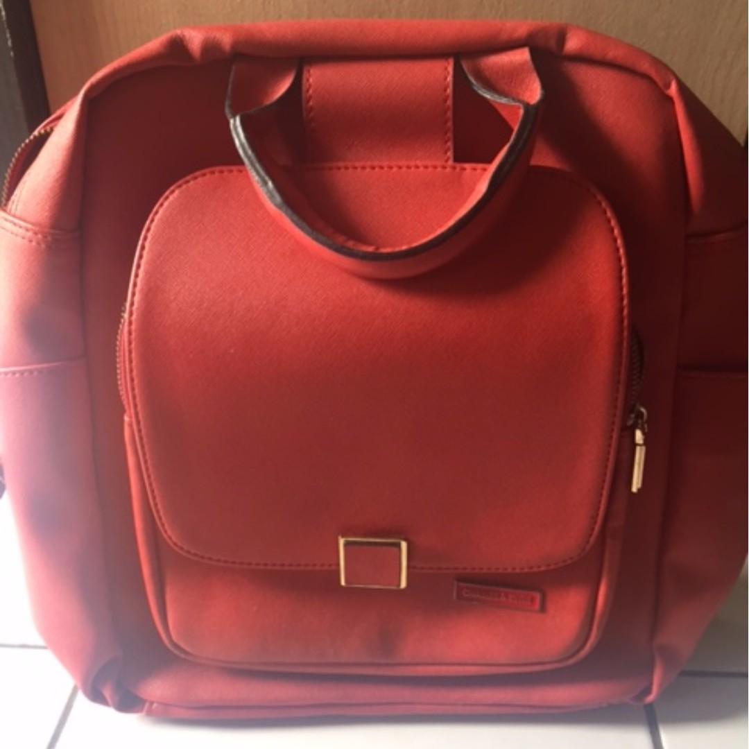 Tas Ransel Merah (Red Backpack)