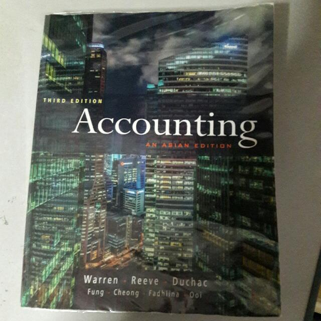 Third Edition Accounting An Asian Edition Books Stationery