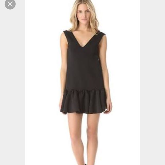 Three Floor Flare Neoprene Dress Size 8