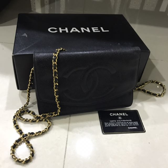 abee664b7d02a6 Vintage Chanel Wallet On Chain (woc), Luxury, Bags & Wallets on ...