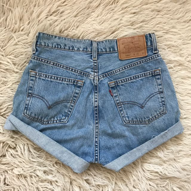 Vintage Levis 555 denim high waist shorts