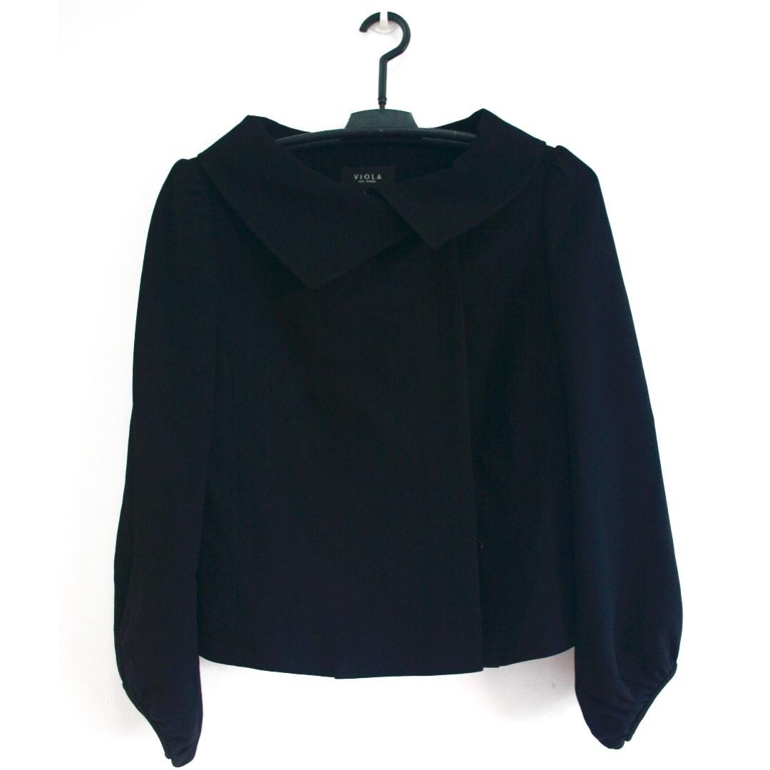 VIOLA Black Cape-like Coat/Blazer