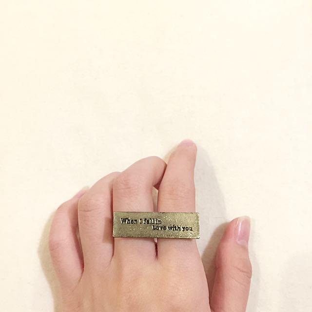 when i fallin in love w/you Ring