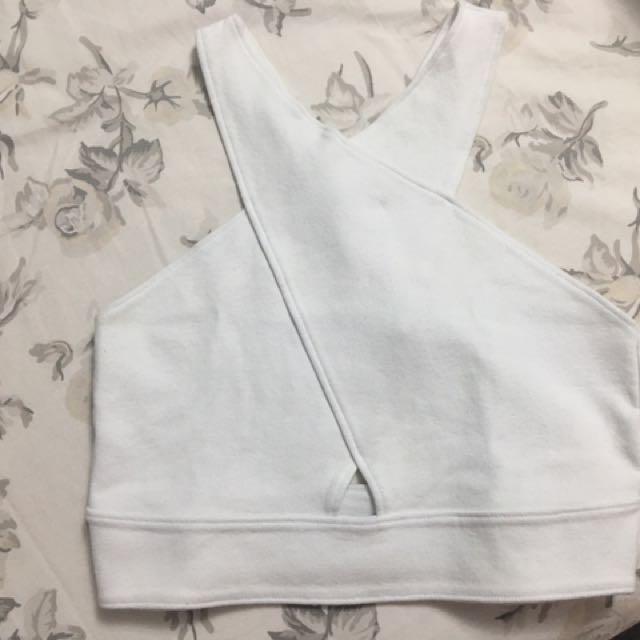 White A&F Crop Top