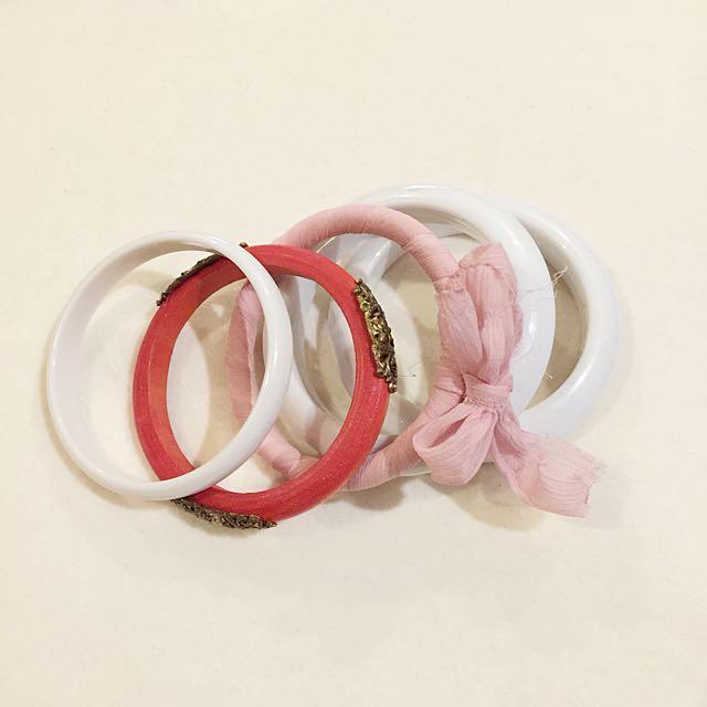 White Pink Bracelet