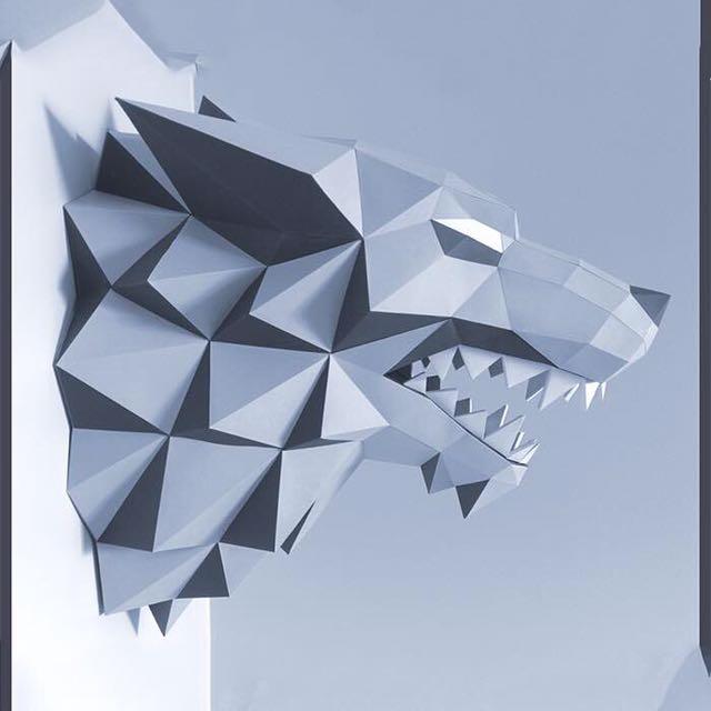 Wolf Origami Paper Craft Design Craft Craft Supplies Tools On