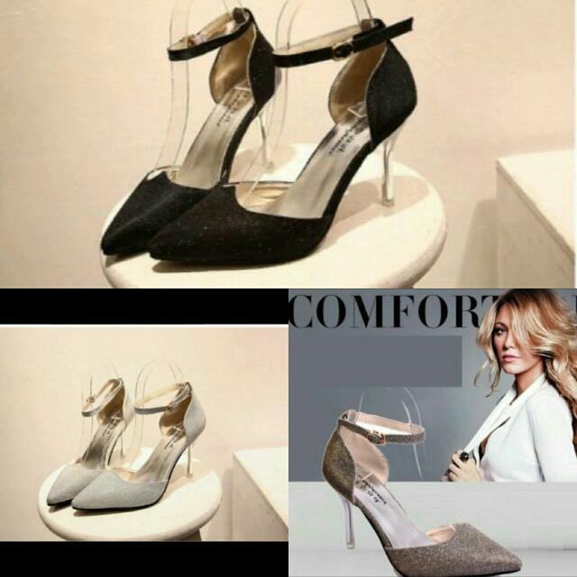 8392d0413b559 WSWHL46555 Simple Glitter Style Women Heels Price RM60 free pos ...