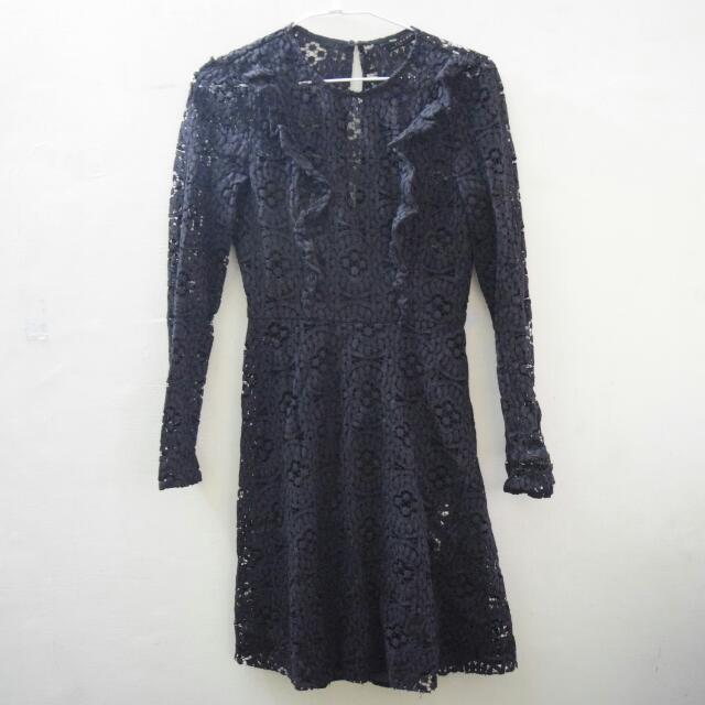ZARA Black Lace Dress