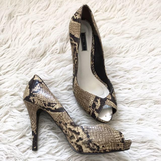 Zara Snakeskin Heels