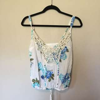 Abercrombie And Fitch Floral Tank Top