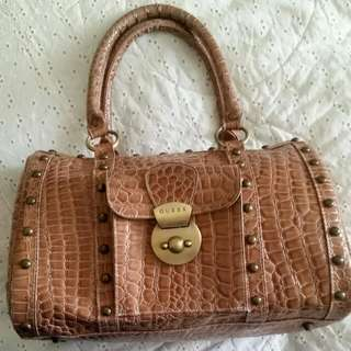 GUESS Faux Crocodile Purse