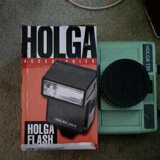 Holga Camera And Flash