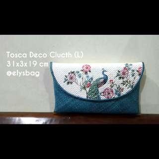 Clutch Tosca Peacock Motif