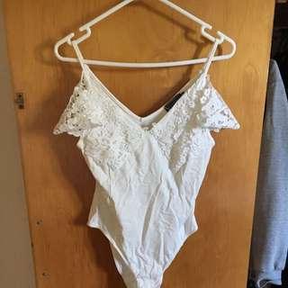White/cream Body Suit