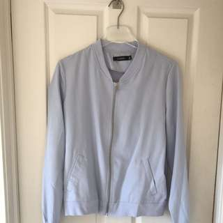 POWDER BLUE BOMBER JACKET