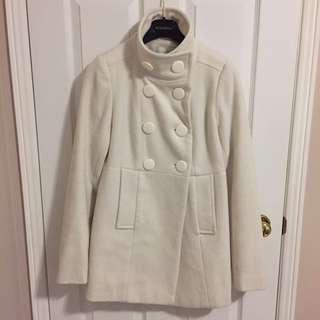 Costa Blanca Cream Pea Coat