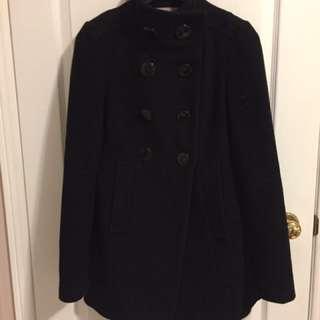 Costa Blanca Black Pea Coat