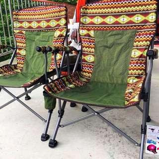 LIFECODE 民族風高承重加寬 扶手折疊椅