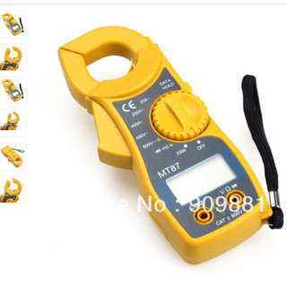 new Digital Multimeter Electronic CLAMP Meter AC/DC Voltage Current Tester Volt Ampere Ohm Meter MT87