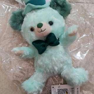 大學熊綠色風帽ss號娃娃