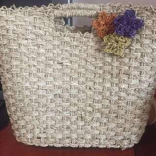 峇里島帶回 手工編織提袋