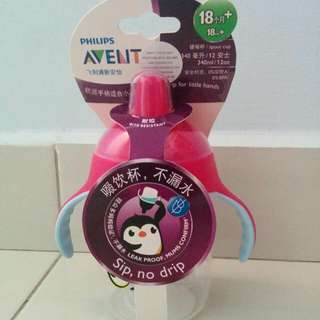 New - Philips Avent Spout Cup 340ml/ 12oz 18m+ (Pink)