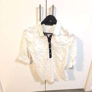 Zarra Sailor Print Shirt