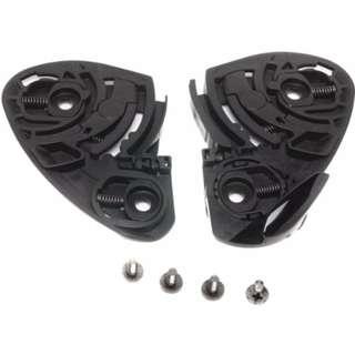 Shoei Quick Release Self-Adjusting Base Plate Full Set RF-1100 Street Racing Motorcycle Helmet Accessories - Color: Black
