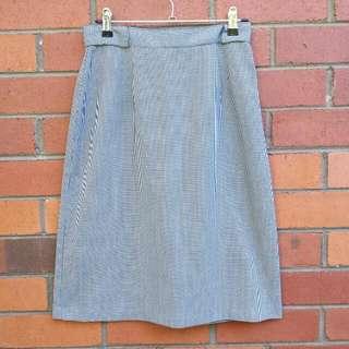 Vintage 80s Houndstooth Skirt