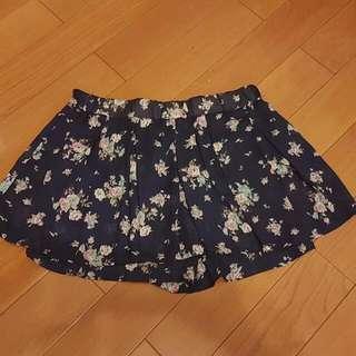 碎花半鬆緊褲裙