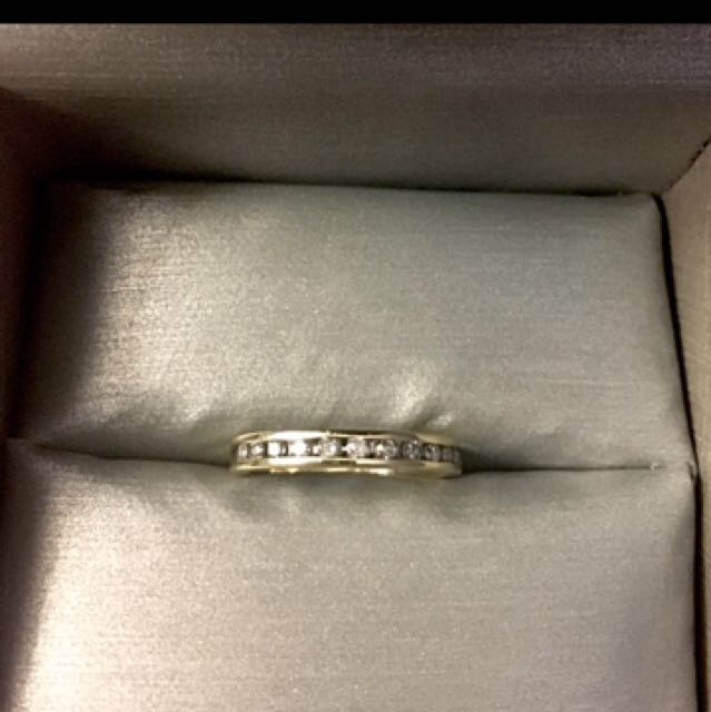 10k Ring Size 4 Real Diamonds