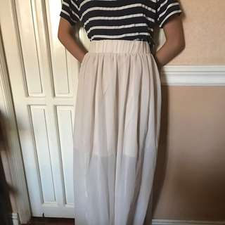 Light Peach Long Skirt
