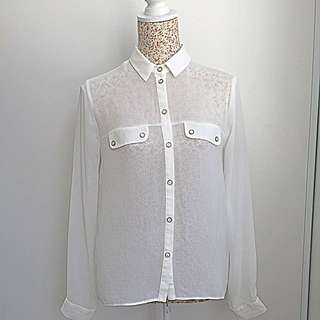 TOPSHOP White Blouse