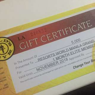 1 Month Elite Membership at gold's Gym (any Branches)