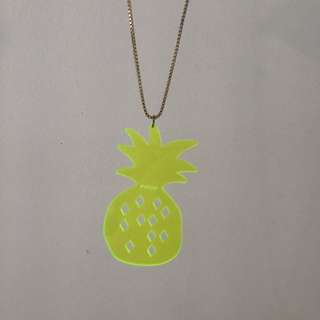 Gorman fluorescent yellow pineapple necklace