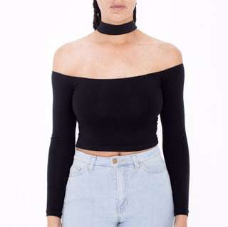 American Apparel Crop Top Choker