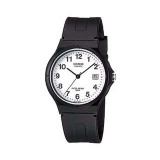 [Ready Stock] Casio MW-59 MW59 MW 59 7B Unisex Men Ladies Classic Simple Black Resin Analog with Date Display Watch New