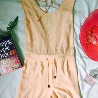 Peach Sexy Dress Short