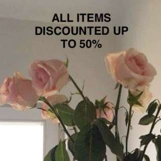 ALL ITEMS DISCOUNTED xx