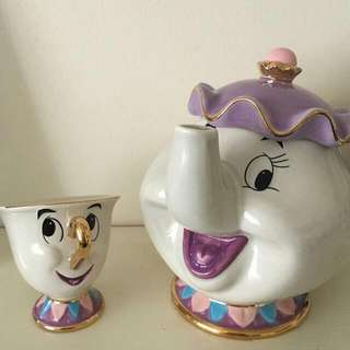 🌹MRS POTT AND CHIP TEACUP TEA SET 🌹