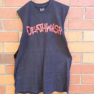 Deathwish Metal Cut Off Singlet Top