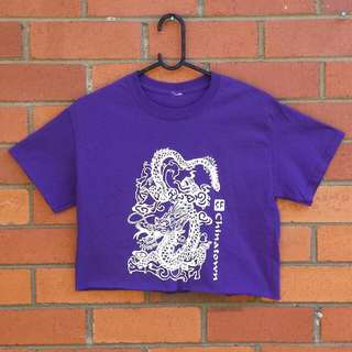 Purple Dragon Crop Top