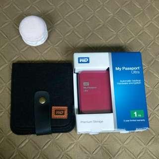 Western Digital My Passoort Ultra External Hard Disk 1TB
